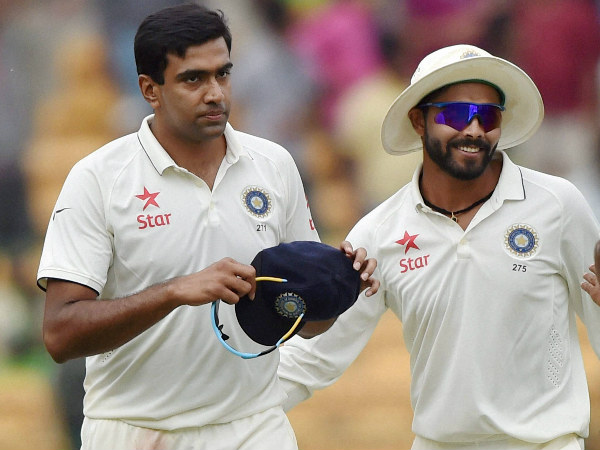From left: Ashwin (5) and Jadeja (4) shared 9 wickets