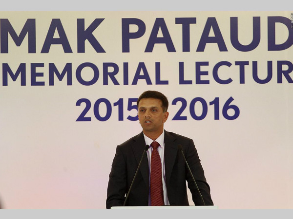 Rahul Dravid delivers Pataudi lecture. Photo: BCCI
