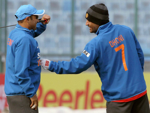 Sehwag (left) and Dhoni during India playing days