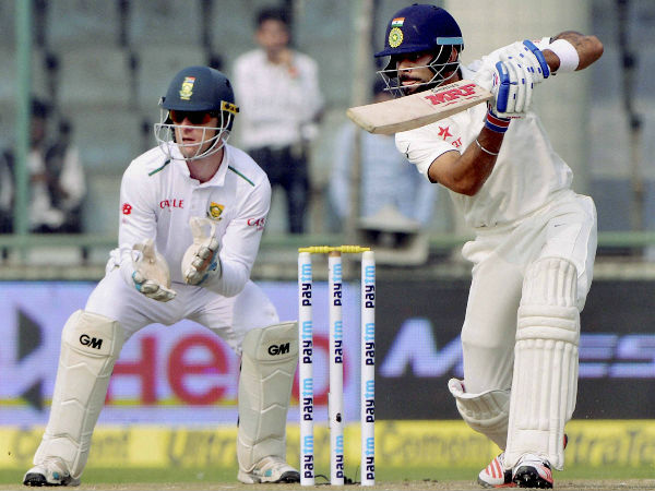At tea, Virat Kohli was unbeaten on 39