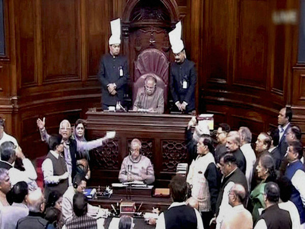 Cong MPs force two adjournments in RS