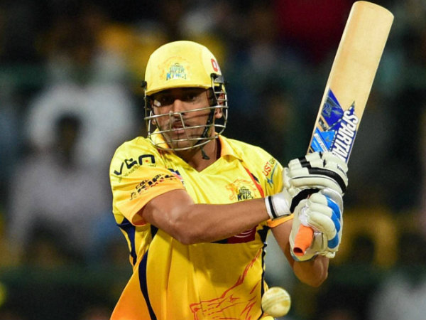 MS Dhoni in CSK colours during IPL