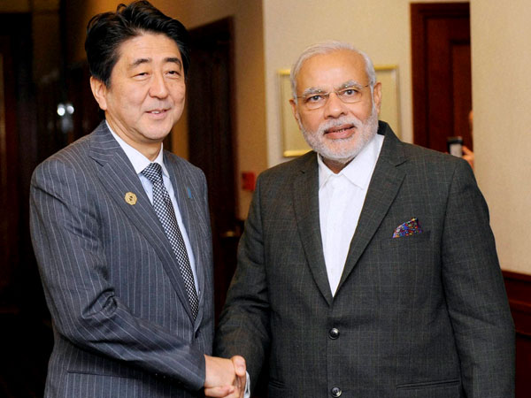 Image result for Shinzo Abe and Nerendra Modi