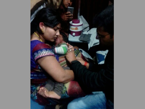 The child who was suffering from fever and got immediate help from Suresh Prabhu