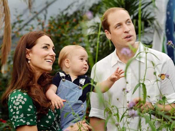 Prince George with his parents