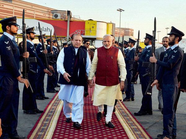 Modi with Sharif in Pakistan