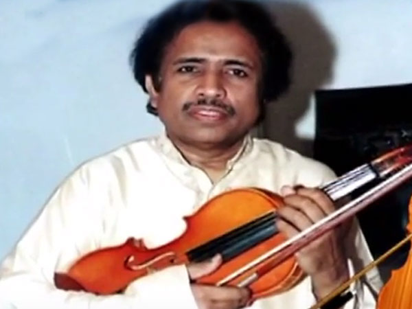 Violin virtuoso and composer Dr L Subramaniam