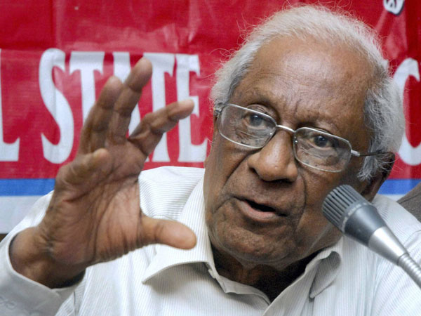 Last rites of CPI leader AB Bardhan performed.