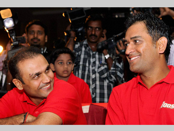 Sehwag and Dhoni