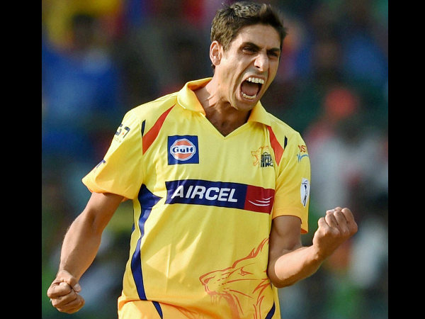 A file picture of Nehra in CSK colours in IPL