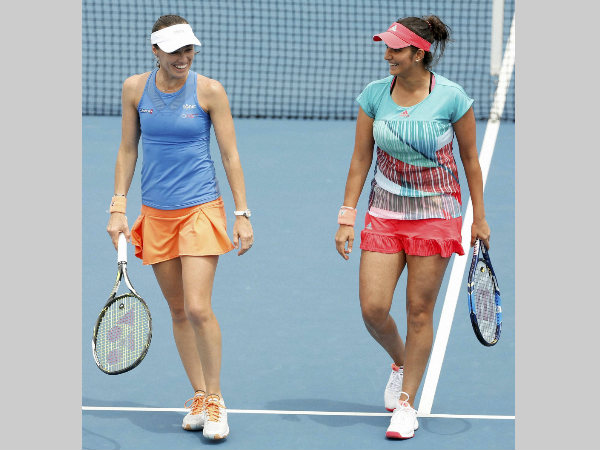 File photo: Martina (left) and Sania