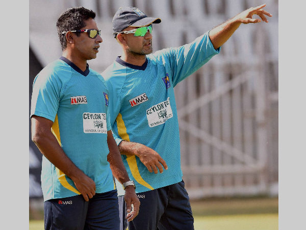 File photo: Chaminda Vaas (left) with Marvan Atapattu, former captain of Sri Lanka
