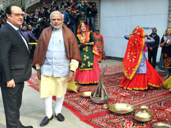 Traditional dances held to welocme Hollande in Chandigarh