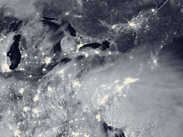 NASA captures massive US east coast 'snowzilla' from space