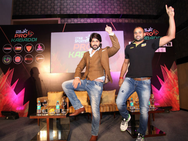 Yash (left) is ready for the action in Bengaluru