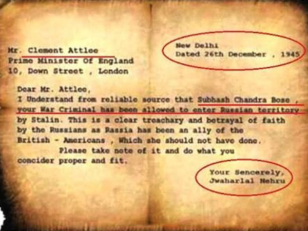 Bose files: Is Nehru's letter authentic?