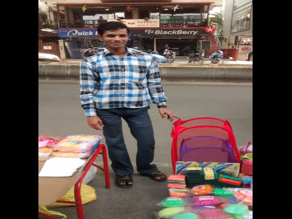Atul Kumar poses with his wares