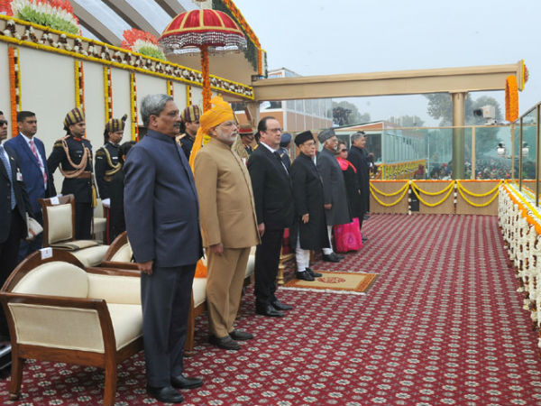 President, PM at the saluting dais