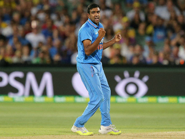 Ashwin celebrates a wicket during the 1st T20I in Adelaide