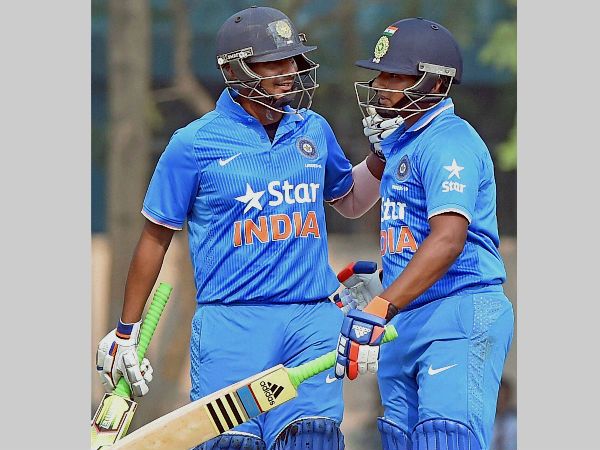 File photo: Sarfaraz Khan (right) and Ricky Bhui during an Under-19 match for India