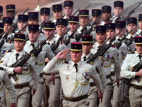 The contingent of French Army marching past during the 67th Republic Day parade at Rajpath in New Delhi.