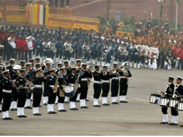 Naval brass band performs in New Delhi