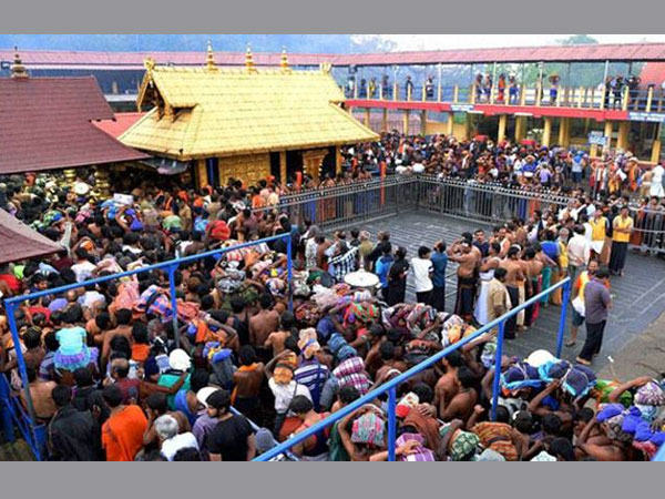 Sabarimala temple flag post damaged, three detained