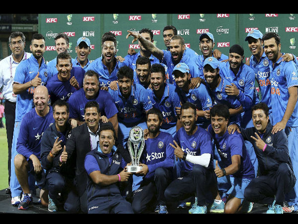 Team India celebrates historic whitewash in Australia
