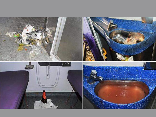 Dirty Pics: Modern Mahamana Express 'insulted' by passengers