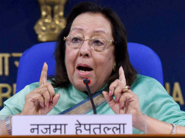 No innocents will be punished: Heptulla