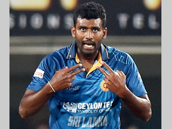 Thisara Perera is ecstatic after taking a hat-trick
