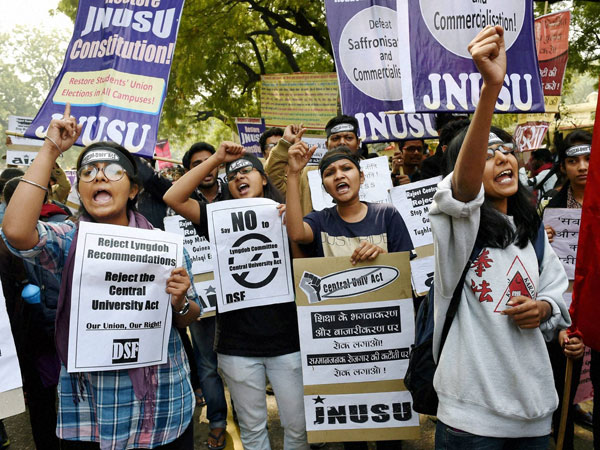 JNU Students Protest