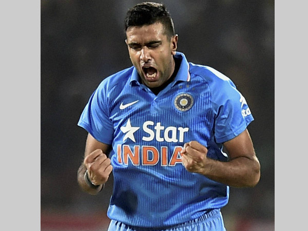 Ashwin is ecstatic after taking a wicket