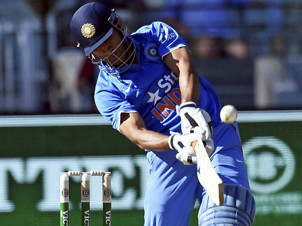 MS Dhoni hits a six during the Australia ODI series last month, in Melbourne