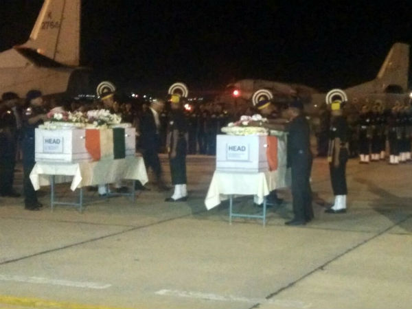 Mortal remains of Siachen braves arrive