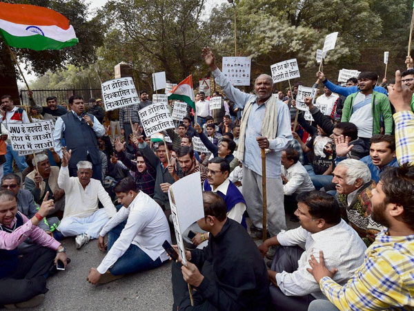 JNU students 'terrorised'