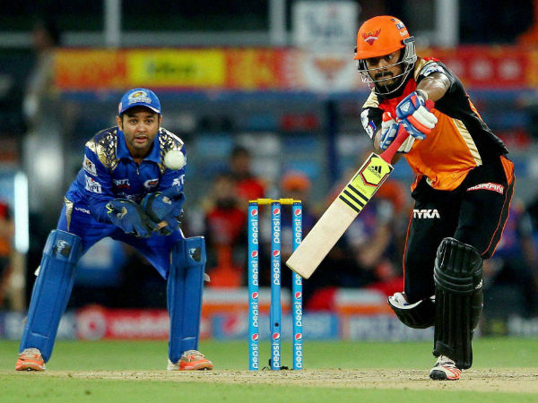 File photo: KL Rahul bats for Sunrisers against Mumbai Indians in IPL 2015