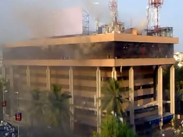 File Photo: Carlton Towers on Old Airport Road in Bengaluru was engulfed in flames on Feb 23, 2010