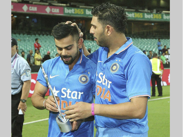 File photo: Kohli (left) with Yuvraj Singh
