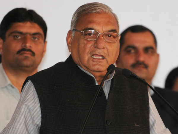 Shoes hurled at Bhupinder Singh Hooda during Rohtak visit.