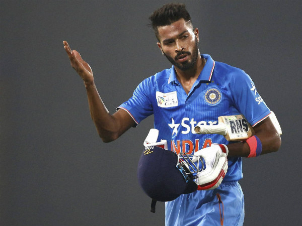 Hardik Pandya returns to the pavilion after scoring a brisk 31 against Bangladesh in Asia Cup opener
