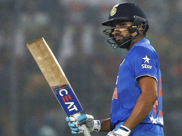 Rohit Sharma celebrates his half century against Bangladesh in Asia Cup opener on Wednesday (February 24)