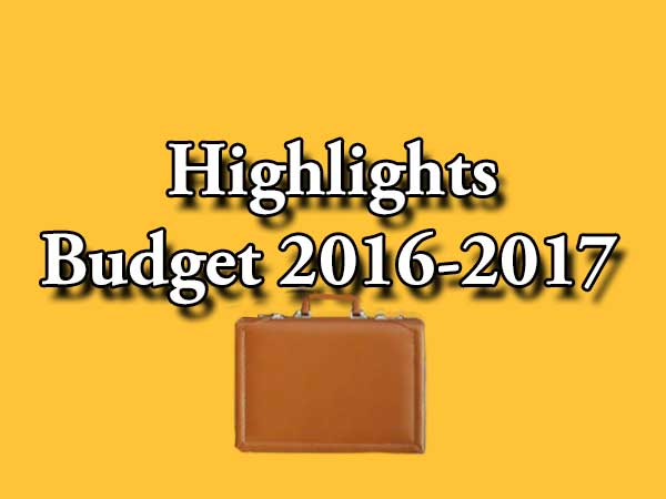 Union Budget 2016: Highlights