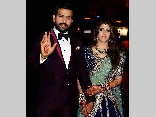 Rohit Sharma ties the knot with Ritika Sajdeh