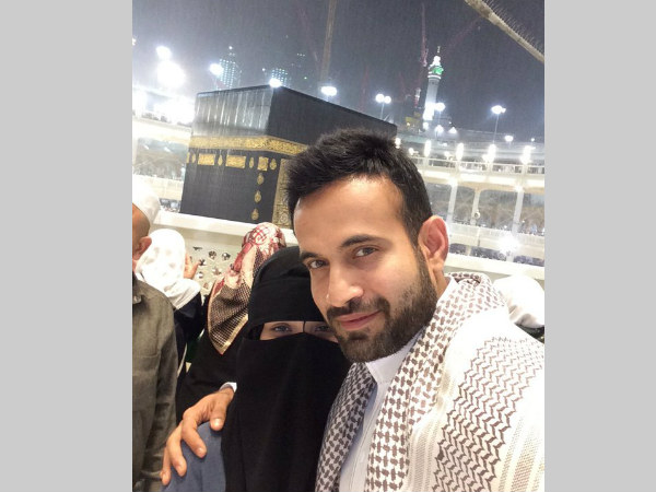 Irfan Pathan with his wife. Photo from the cricketer's Twitter page