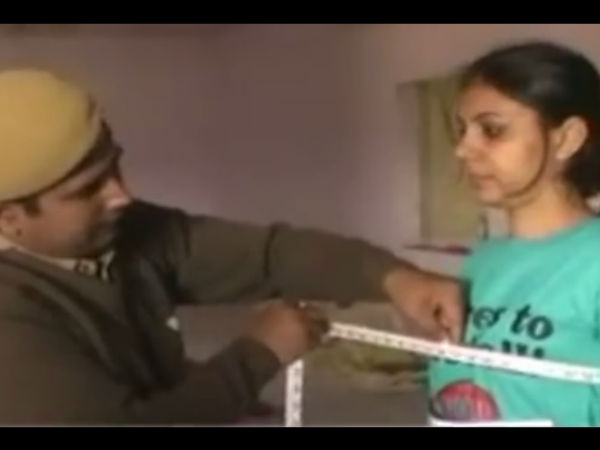Male cops conduct girls' physical tests