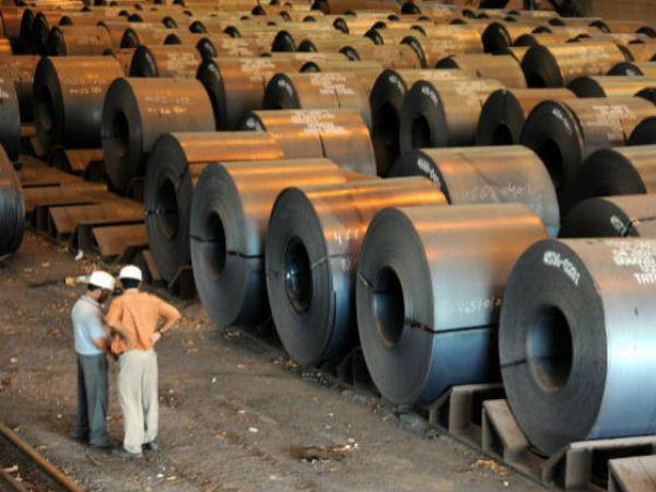 India's domestic steel consumption in February fell for the first time