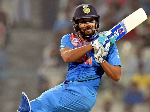 Rohit Sharma in action during his 98 not out against West Indies