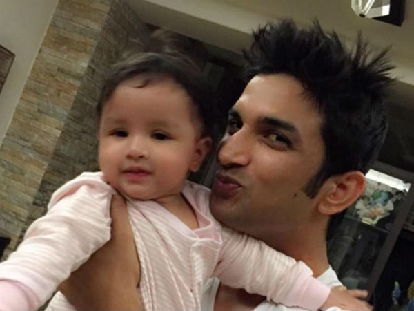 Baby Ziva with 'reel-life Dhoni' Sushant Singh Rajput