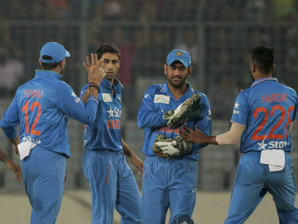 Indian players celebrate a wicket during Asia Cup 2016